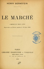 Cover of: Le marché