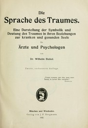 Cover of: Die sprache des Traumes