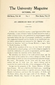 Cover of: An American man of letters