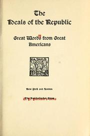 Cover of: The Ideals of the republic