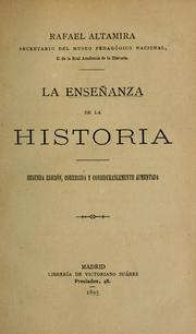 Cover of: La enseñanza de la historia