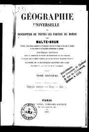 Cover of: Géographie universelle ou Description de toutes les parties du monde