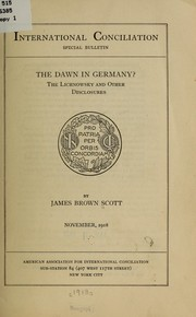 Cover of: The dawn in Germany?