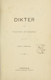 Cover of: Dikter
