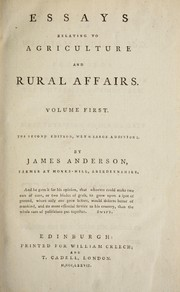 Cover of: Essays relating to agriculture and rural affairs