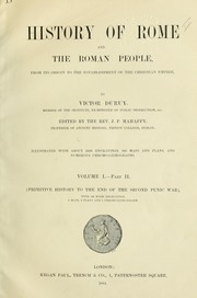 Cover of: History of Rome and the Roman people, from its origin to the establishment of the Christian empire