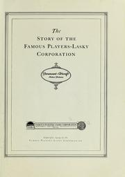 Cover of: The story of the Famous Players-Lasky Corporation