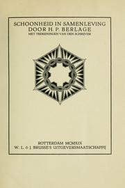 Cover of: Schoonheid in samenleving
