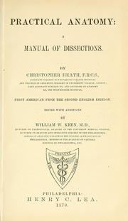 Cover of: Practical anatomy: a manual of dissections