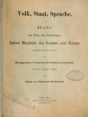 Cover of: Volk, Staat, Sprache