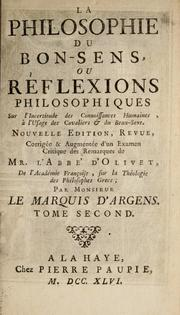 Cover of: La philosophie du bon-sens