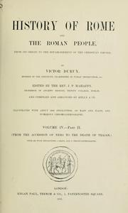 Cover of: History of Rome and of the Roman people, from its origin to the Invasion of the Barbarians