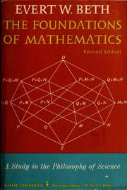 Cover of: The foundations of mathematics