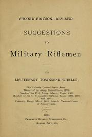 Cover of: Suggestions to military riflemen