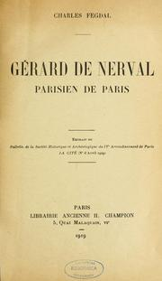 Cover of: Gérard de Nerval, parisien de Paris