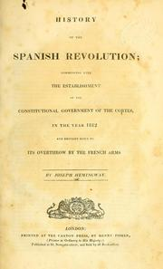 Cover of: History of the Spanish revolution