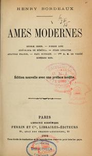 Cover of: Ames modernes