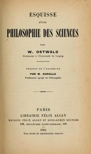Cover of: Esquisse d'une philosophie des sciences