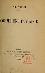 Cover of: Comme une fantaisie