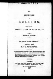 Cover of: The high price of bullion