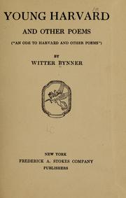 Cover of: Young Harvard, and other poems
