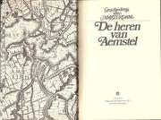 Cover of: De heren van Aemstel