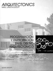 Cover of: Programming and Participation in Architectural Desgn