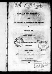 Cover of: The annals of America, from the discovery by Columbus in the year 1492 to the year 1826
