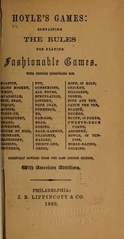 Cover of: Hoyle's games