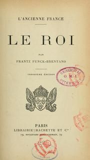 Cover of: L'ancienne France