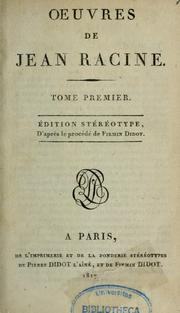 Cover of: Oeuvres de Jean Racine