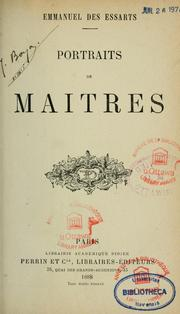 Cover of: Portraits de maîtres