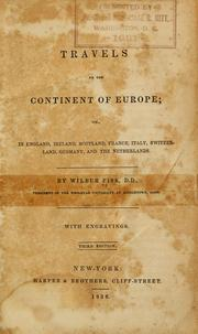 Cover of: Travels on the continent of Europe