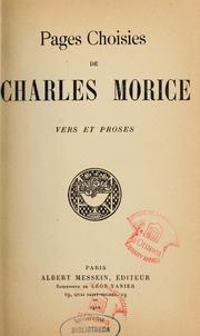 Cover of: Pages choisies de Charles Morice