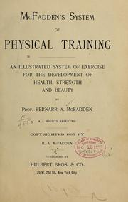 Cover of: McFadden's system of physical training
