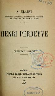 Cover of: Henri Perreyve