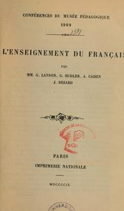 Cover of: L'Enseignement du français