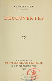 Cover of: Découvertes