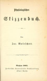 Cover of: Physiologisches Skizzenbuch