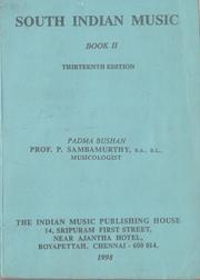 Cover of: South Indian Music: Book II