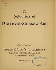 Cover of: A Selection of Oriental works of art