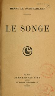Cover of: Le songe; roman. --