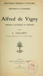 Cover of: Alfred de Vigny