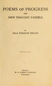 Cover of: Poems of progress, and New thought pastels
