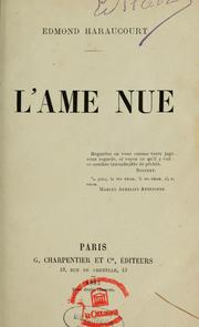 Cover of: L'âme nue