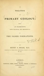 Cover of: A treatise on primary geology
