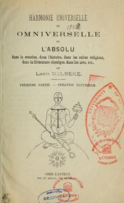 Cover of: Harmonie universelle et omniverselle