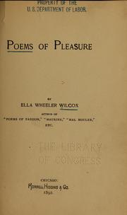 Cover of: Poems of pleasure
