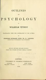 Cover of: Outlines of psychology