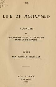 Cover of: The life of Mohammed